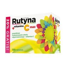Rutyna + witamina C Max, tabletki, 120 szt.