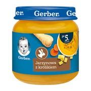 Gerber, jarzynowa z królikiem, 5 m+, 125 g