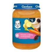 Gerber, schabik ze śliwką w warzywach, 6 m+, 190 g