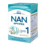 Nestle Nan Optipro 1, mleko początkowe dla niemowląt od urodzenia 800 g