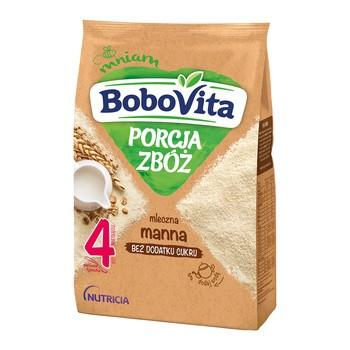 BoboVita Porcja Zbóż, kaszka mleczna, manna, 4m+, 210 g