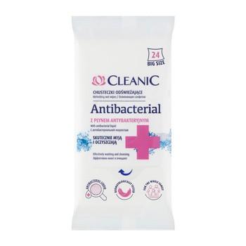 Cleanic Antibacterial, chusteczki odświeżające, 24 szt.