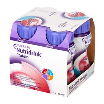 Nutridrink Protein, rześki smak czerwonych owoców, płyn, 4 x 125 ml