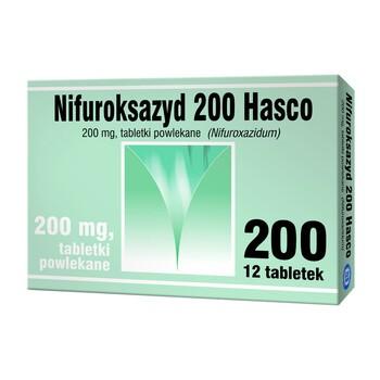 Nifuroksazyd Hasco, 200 mg, tabletki powlekane, 12 szt.