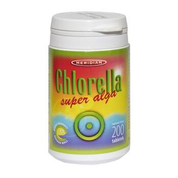Chlorella, tabletki z prasowanymi algami, 200 szt.
