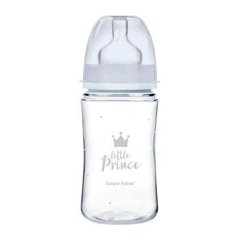Canpol babies Easy Start Royal Baby, butelka szeroka, antykolkowa, niebieska, 240 ml, 1 szt.