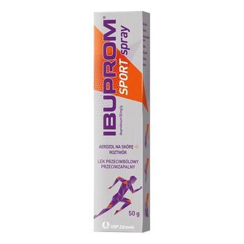 Ibuprom Sport spray, 50 mg/g, aerozol na skórę, 50 g