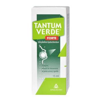 Tantum Verde Forte, 3 mg/ml, aerozol do stosowania w jamie ustnej i gardle, 15 ml