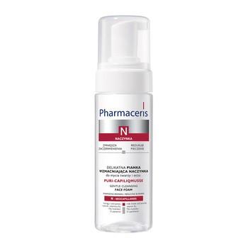 Pharmaceris N Puri-Capiliqmusse, delikatna pianka wzmacniająca naczynka, do mycia twarzy i oczu, 150 ml