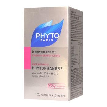 Phytophanere, kapsułki wzmacniające włosy i paznokcie, 120 szt.