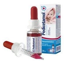 Pedicetamol, (100 mg/ml), krople, 30 ml