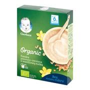 Gerber Organic, kaszka, pszenno-owsiana, waniliowa, 6 m+,  240 g