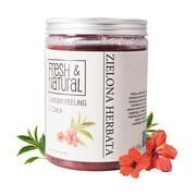 Fresh&Natural, cukrowy peeling do ciała, zielona herbata, 1000 g