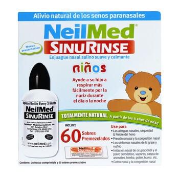 Sinus Rinse, zestaw do płukania dla dzieci, 60 saszetek + butelka 120 ml