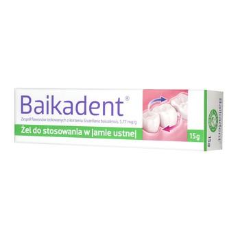 Baikadent, 5,77 mg / g, żel do stosowania w jamie ustnej, 15 g