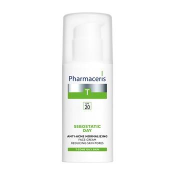 Pharmaceris T Sebostatic Dzień, przeciwtrądzikowy krem normalizujący, zwężający pory, SPF 20, 50 ml