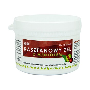 Virdepol, żel kasztanowy z mentolem, 250 ml