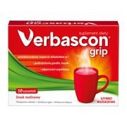 Verbascon Grip, proszek do rozpuszczania, smak malinowy, saszetki, 10 szt.