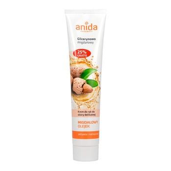 Anida, krem do rąk, glicerynowo-migdałowy, 125 ml