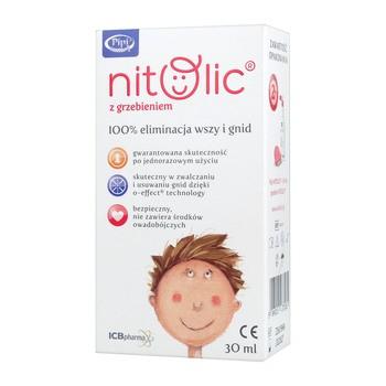 Pipi Nitolic, płyn przeciw wszawicy, z grzebieniem, 30 ml