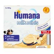 Humana Milk Minis Deserek, kaszka waniliowa, 8 m+, 4 x 100 g