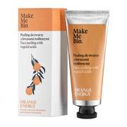 Make Me Bio Orange Energy, peeling do twarzy z kwasami roślinnymi, 40 ml