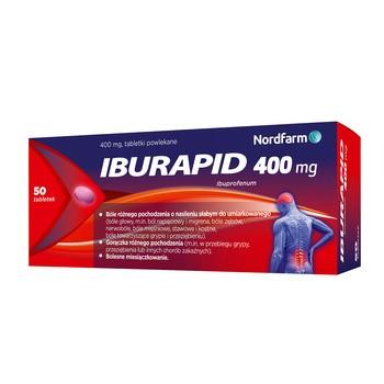 Iburapid, 400 mg, tabletki powlekane, 50 szt.