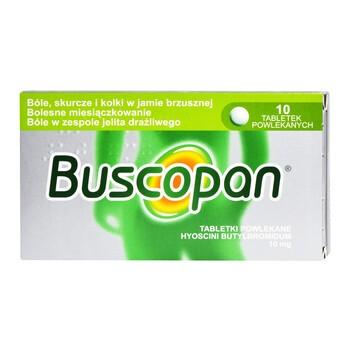 Buscopan, 10 mg, tabletki powlekane, 10 szt.