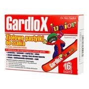 Gardlox Junior, ziołowe pastylki do ssania, smak pomarańczowy, 16 szt.