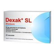 Dexak SL, 25 mg, granulat do sprządzania roztworu doustnego w saszetkach, 20 szt. (import równoległy, Delfarma)