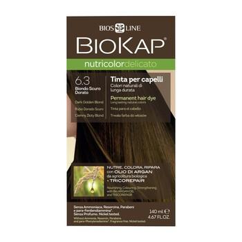 Biokap Nutricolor Delicato, farba do włosów, 6.3 ciemny złoty blond, 140 ml