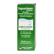 Espumisan, 40 mg/ml, krople doustne, emulsja, 30 ml (import równoległy, Delfarma)