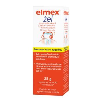Elmex, 12,5 mg fluoru/g, żel, 25 g