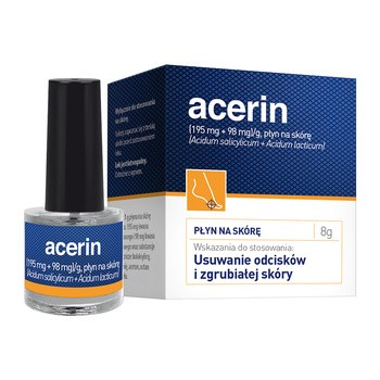 Acerin, płyn do usuwania odcisków i zgrubiałej skóry, 8g, (9 ml)