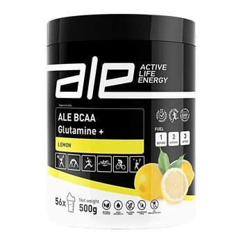 ALE Active Life Energy BCAA Glutamine+, Lemon, proszek, 500 g