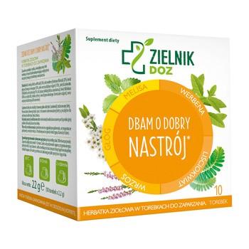 ZIELNIK DOZ Dbam o dobry nastrój, herbatka ziołowa w saszetkach, 2,2 g, 10 szt.