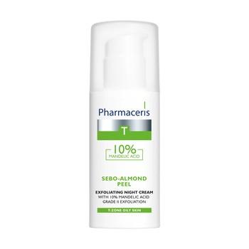 Pharmaceris T Sebo-Almond Peel 10%, krem z 10% kwasem migdałowym, na noc, II stopień złuszczania, 50 ml