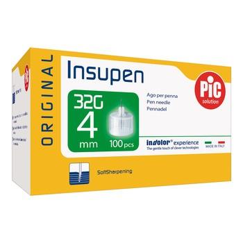 PiC Solution Insupen, igły do penów insulinowych, 32G x 4mm, 100 szt.