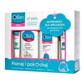 Zestaw Promocyjny Oillan Baby, płyn do mycia, 200 ml + szampon, 200 ml + mleczko, 10 ml + krem, 10 ml