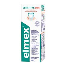 Elmex Sensitive Plus, płyn do płukania jamy ustnej z aminofluorkiem, bez alkoholu, 400 ml