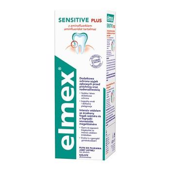 Elmex Sensitive Plus, płyn do płukania jamy ustnej z aminofluorkiem, bez alkoholu, 400 ml