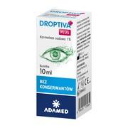 Droptiva Plus, nawilżające krople do oczu, 10 ml
