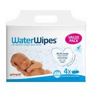 WaterWipes, chusteczki nasączone czystą wodą, naturalne, 4 x 60 szt.