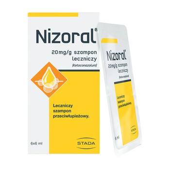 Nizoral, 20 mg/g, szampon leczniczy, saszetki, 6 ml, 6 szt.