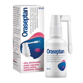 Oraseptan, aerozol do stosowania w jamie ustnej, 30 ml