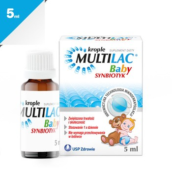 Multilac Baby, krople, synbiotyk, 5 ml