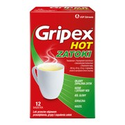 Gripex Hot Zatoki, proszek do sporządzanai roztworu doustnego, 12 saszetek