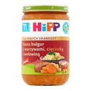 HiPP BIO, kasza bulgur z warzywami, cieciorką i wołowiną, po 11. miesiącu, 220 g