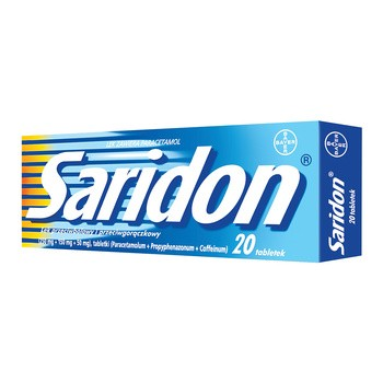 Saridon, 250 mg+150 mg+50 mg, tabletki, 20 szt.