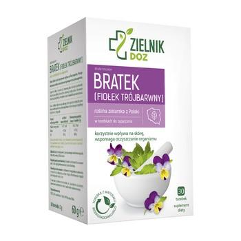 ZIELNIK DOZ Bratek (fiołek trójbarwny), zioła do zaparzania, 2 g, 30 saszetek